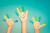 Fototapety Happy smiley hands