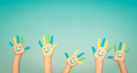 Happy smiley hands