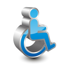 Disabled person icon 3D