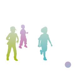 Kinder rennen hinter Ball her - Fußball