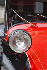 Headlight of an old car