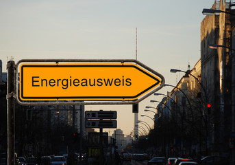 Strassenschild 37 - Energieausweis