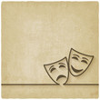 comedy and tragedy masks old background - 80092889