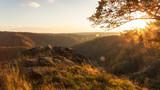 Blick aufs Bodetal - Sonnenuntergang