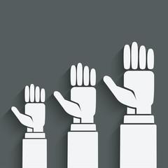 hands up concept