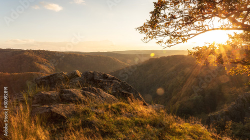 Blick aufs Bodetal - Sonnenuntergang - 80092891