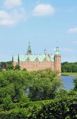 Ancient castle. Frederiksborg Palace, Hillerod, Denmark