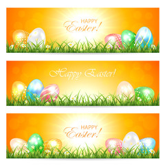 Easter cards with eggs