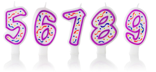 Candles: Five Through Nine Birthday Candles