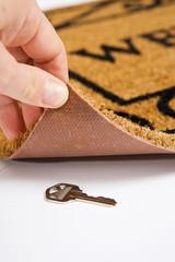 Door Mat: House Key Hidden Under Door Mat