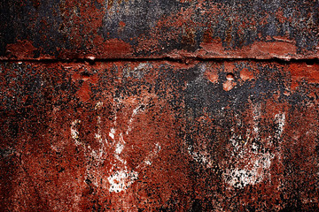old rusty metal background with cracked paint