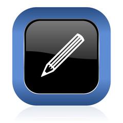 pencil square glossy icon