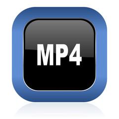 mp4 square glossy icon