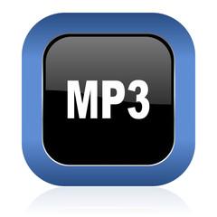 mp3 square glossy icon