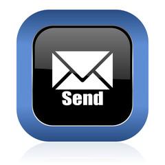 send square glossy icon post sign