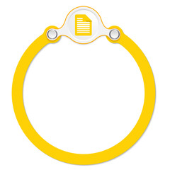 circular frame for your text and document icon