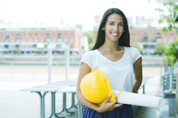 Happy female architect