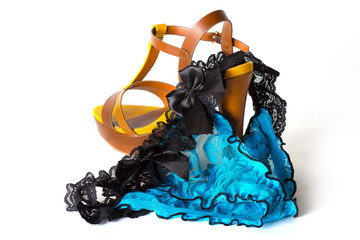 Ladies shoes and panty