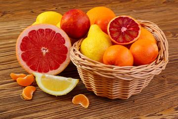 Citrus fruits - oranges, lemons, tangerines, grapefruit