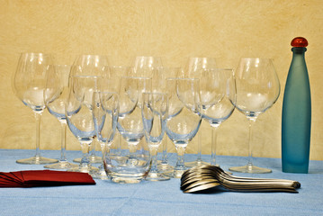 I bicchieri sulla tavola