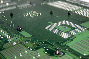 Motherboard view from below.