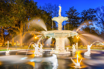 Forsyth Park in Savannah Georgia