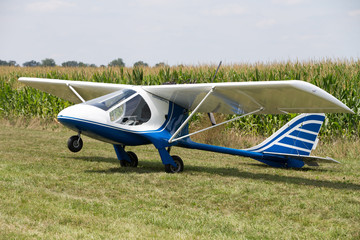 Experimental plane in a field