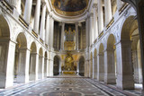 Interior of old cathedral in Paris, France - 80100061