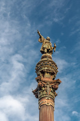 Columbus Monument in Barcelona, Spain