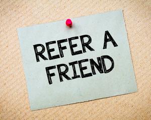 Refer a Friend Message