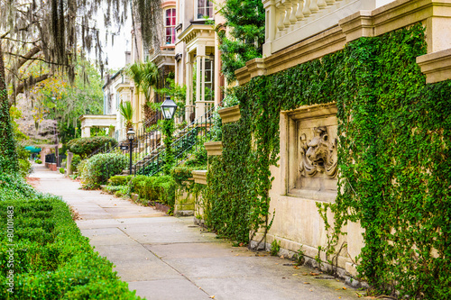 Savannah, Georgia, USA Historic Downtown