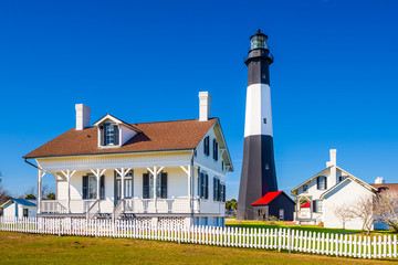 Tybee Island Lighthouse on Tybee Island, Georgia, USA