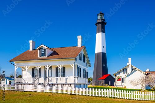 canvas print picture Tybee Island Lighthouse on Tybee Island, Georgia, USA