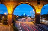 Railway viaduct over motorway - 80101810