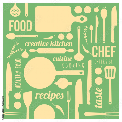 Creative kitchen background - 80102291