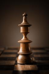 Chess. White king on chessboard.