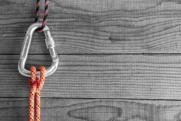 Mountain gear for climbing: Clove Hitch knot