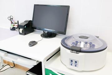 Closeup table medical centrifuge