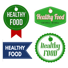 Healthy food  label, sticker or stamps