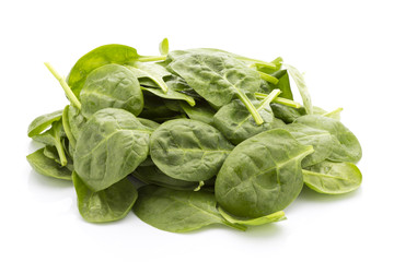 Spinach isolated on the white background.