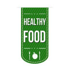 Healthy food banner design