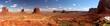 Leinwandbild Motiv Monument valley Panoramic