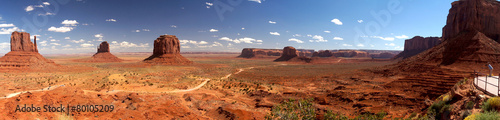 Spoed canvasdoek 2cm dik Zandwoestijn Monument valley Panoramic