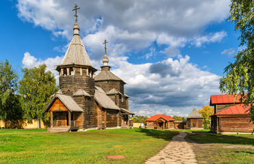 The traditional russian wooden church in Suzdal, Russia