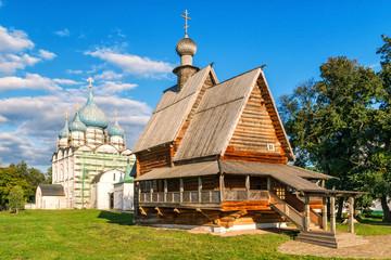 Old wooden church in the Suzdal Kremlin