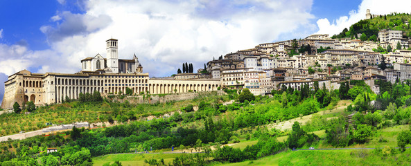 Assisi - religious historic town in Umbria, Italy