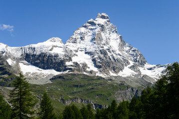 The Matterhorn in a summer morning