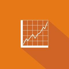Icono gráfica analítica naranja sombra