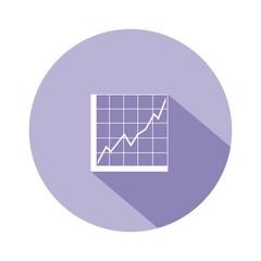 Icono gráfica analítica morado botón sombra