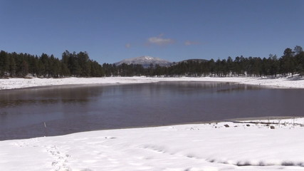 Kaibab Lake Arizona in Winter